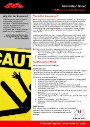 Risk Management and Insurance - Volunteering Qld