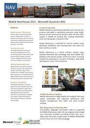 Mobile Warehouse 2011 - Microsoft Dynamics NAV - ERP2mobile