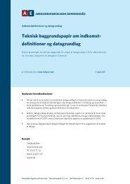 Teknisk baggrundspapir om indkomst - Arbejderbevægelsens ...