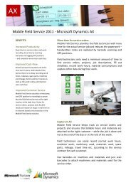 Mobile Field Service 2011 - Microsoft Dynamics AX - ERP2mobile