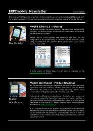 Mobile Sales v1.3 - released - ERP2mobile