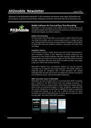 AX2mobile Newsletter - ERP2mobile