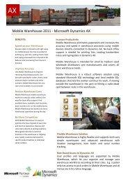 Mobile Warehouse 2011 - Microsoft Dynamics AX - ERP2mobile