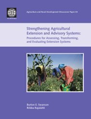 Strengthening Agricultural Extension and Advisory Systems: