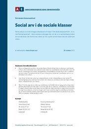 Social arv i de sociale klasser - Arbejderbevægelsens Erhvervsråd