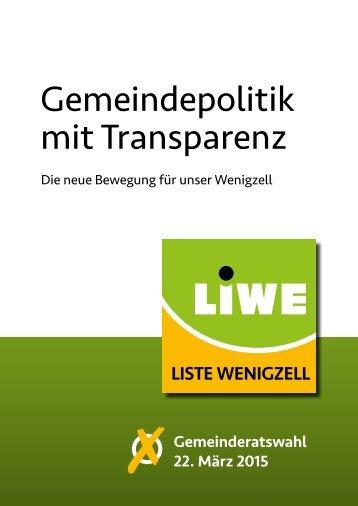 Gemeindepolitik mit Transparenz
