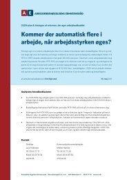AE: Kommer der automatisk flere i arbejde, når arbejdsstyrken øges?