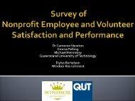 Survey of Nonprofit Employee and Volunteer ... - Volunteering Qld