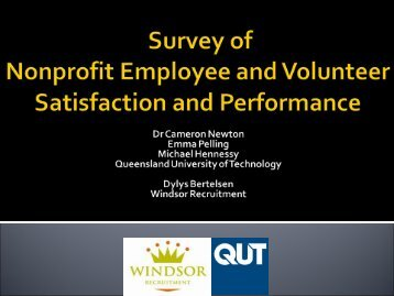 Survey of Nonprofit Employee and Volunteer ... - Volunteering Qld