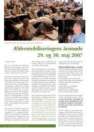 Ældremobiliseringens årsmøde 29. og 30. maj 2007