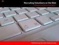 Recruiting on the web - Volunteering Qld