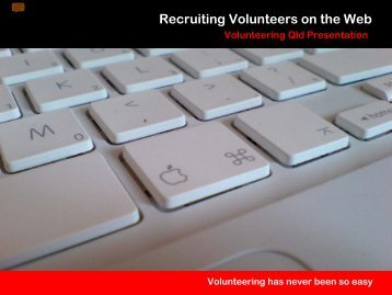 Recruiting on the web - Volunteering Qld