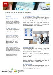 Mobile Sales 2011 - Microsoft Dynamics AX - ERP2mobile