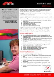 SWOT analysis - Volunteering Qld