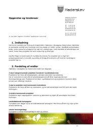 Opgørelse og tendenser 1. Indledning 2. Fordeling af midler