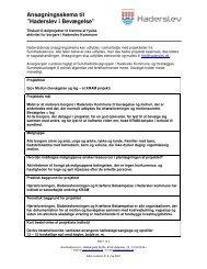 Ansøgningsskema til - Haderslev i bevægelse - Haderslev Kommune