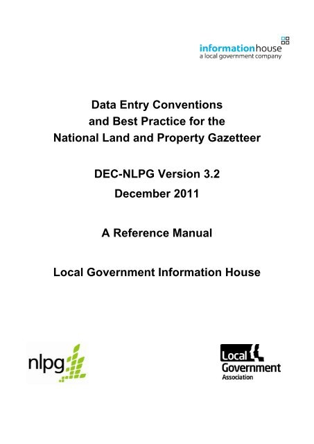 Data Entry Conventions And Best Practice For The Iahub Net