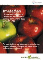 Invitation Invitation - Haderslev i bevægelse - Haderslev Kommune