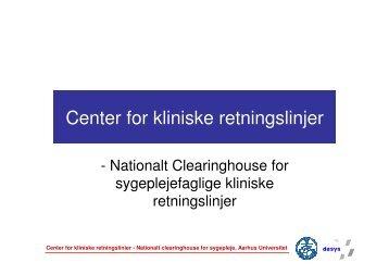 Læs her - Center for Kliniske Retningslinjer