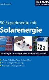 50 Experimente mit Solarenergie - Wissenschaft Online