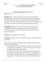 Temadag for kontaktpersoner fra UC`er Dato: Den 2.11.10 ...