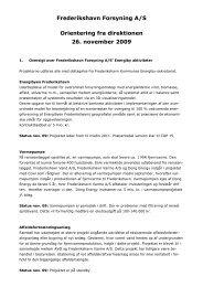 Orientering fra direktionen - åben 091126x - Frederikshavn Forsyning