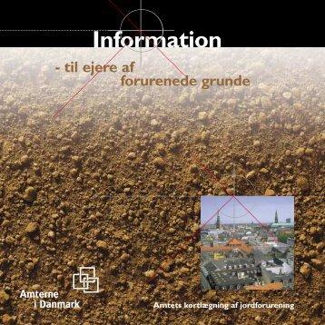 Information til ejere af forurenede grunde
