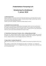 Orientering fra direktionen åben 100107.pdf - Frederikshavn Forsyning