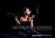 Mediadaten 2012/2013 - woman in the city | WITC Verlag Hamburg