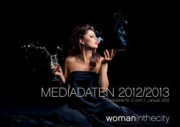 Mediadaten 2012/2013 - woman in the city | WITC Verlag Hamburg