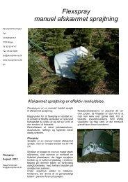 Flexspray produktblad 2012 (2 - Skovdyrkerforeningen