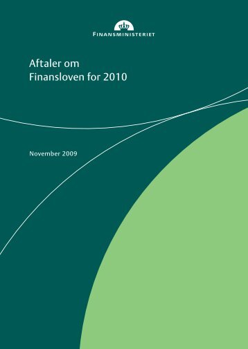 Aftaler om Finansloven for 2010 - Dansk Folkeparti