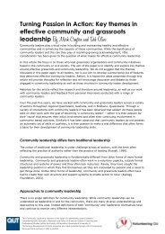 leadership By Mark Creyton and Deb Olive - Volunteering Qld