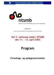 Program for det 2. nationale møde i NTSMB (april 2002)