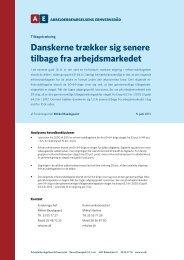 Danskerne trækker sig senere tilbage fra arbejdsmarkedet