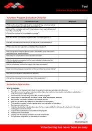 Volunteer program evaluation - Volunteering Qld