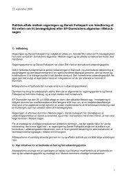 Politisk aftale mellem regeringen og Dansk Folkeparti om ...