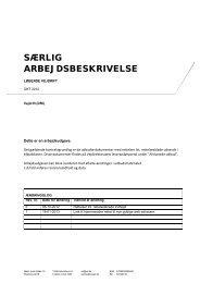 SÆRLIG ARBEJDSBESKRIVELSE - vdvejdrift.dk