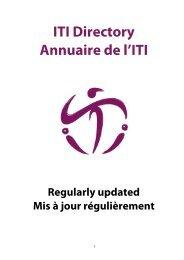 ITI Directory Annuaire de l'ITI - International Theatre Institute