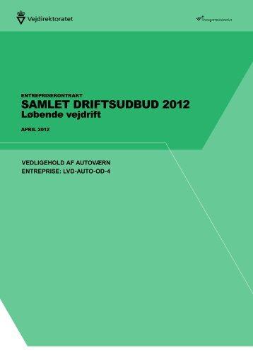SAMLET DRIFTSUDBUD 2012 - vdvejdrift.dk