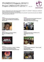 2010-2011 - International Theatre Institute