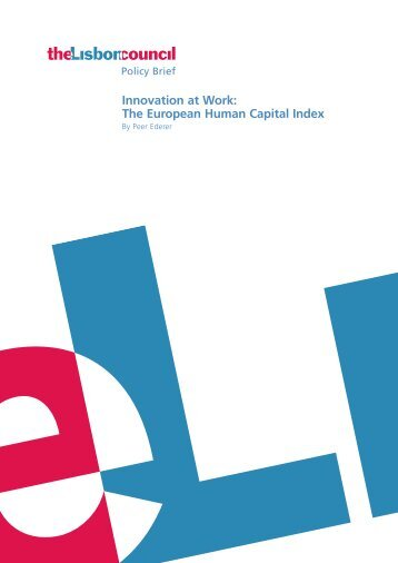 The European Human Capital Index - Deutschland Denken!