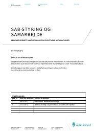 SAB-STYRING OG SAMARBEJDE