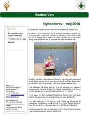 Bedste Ven Nyhedsbrev – maj 2010 - Dansk Folkehjælp