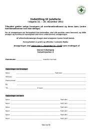 Indstilling til ferieophold - Dansk Folkehjælp