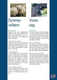 Dyrenes velfærd Vores sag - Dansk Folkeparti