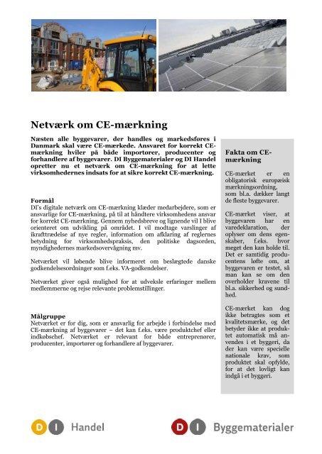 Netværk om CE-mærkning (pdf) - DI Handel