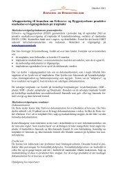 Afrapportering til branchen om Erhvervs- og ... - DI Handel