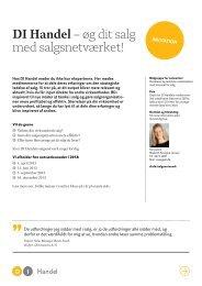 Aktiviteter i DI Handels Salgsnetværk (pdf)