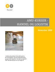 AMU-KURSER - HANDEL OG LOGISTIK - DI Handel
